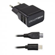 Owlotech Carregador 2,1A 2x USB Lighting + Micro USB