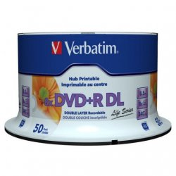 DVD+R DL Double Layer 8x Inkjet Printable 50 Unids Life Series