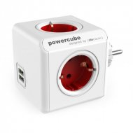 PowerCube Original USB 4 Tomas + 2 USB Roja