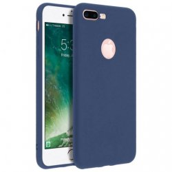 Capa Forcell Soft Touch de Silicone Azul Escuro para iPhone 7/8 Plus