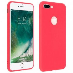 Capa Forcell Soft Touch de Silicone Vermelho para iPhone 7 Plus / 8 Plus