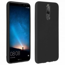 Capa Forcell Soft Touch de Silicone Preta para Huawei Mate 10 Lite