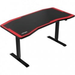Nitro Concepts D16E Mesa Gaming con Altura Regulable Eléctricamente Negra/Roja Reacondicionado